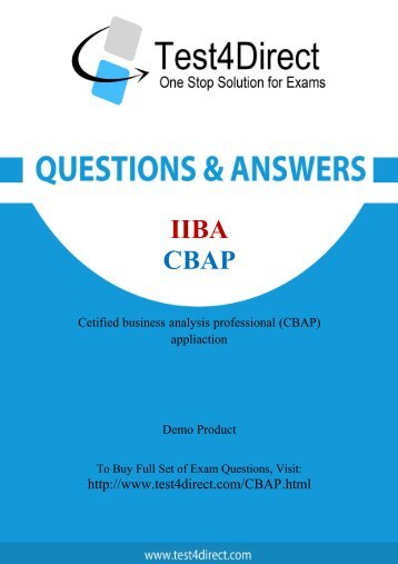 Download CBAP BrainDumps to Success in career