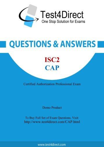 Real CAP Exam BrainDumps for Free