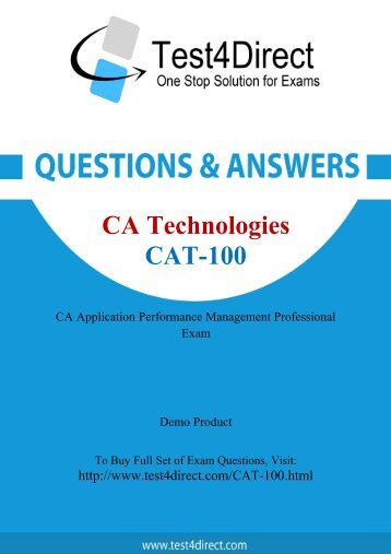 Buy CAT-100 BrainDumps and Get Discount