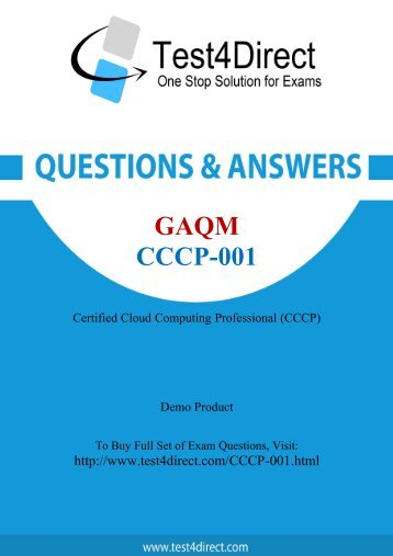 CCCP-001 Exam BrainDumps are Out - Download and Prepare