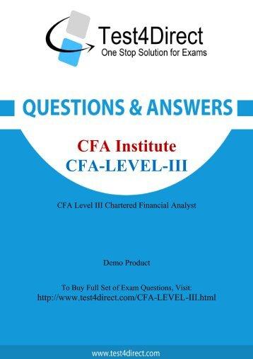 CFA-Level-III Latest Exam BrainDumps