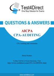 CPA-Auditing Real BrainDumps