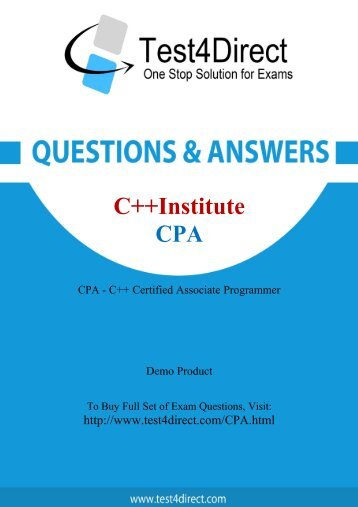 CPA Latest Exam BrainDumps