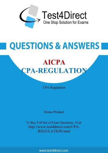 Up-to-Date CPA-Regulation Exam BrainDumps