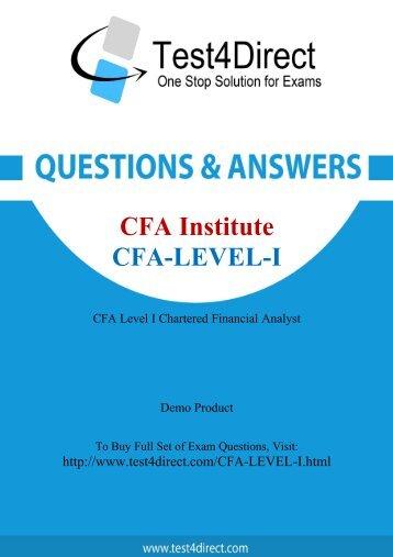 Real CFA-Level-I Exam BrainDumps for Free