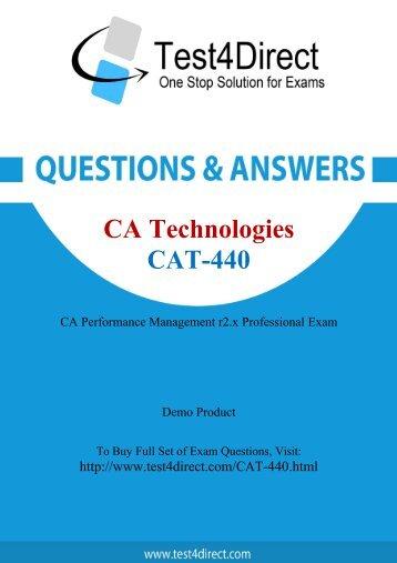 CAT-440 Actual Exam BrainDumps