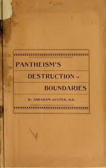 Pantheism's destruction of boundaries - Close this block