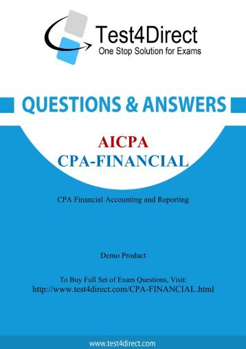 Here you get free CPA-Financial Exam BrainDumps