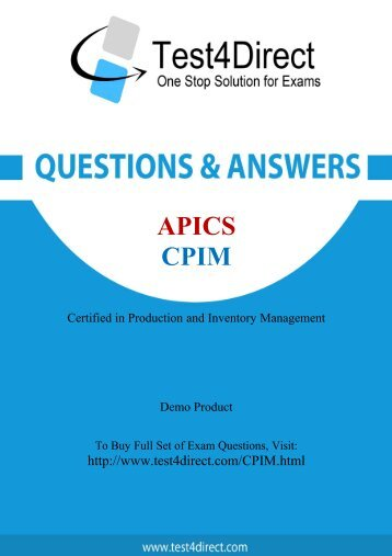 CPIM Exam BrainDumps are Out - Download and Prepare