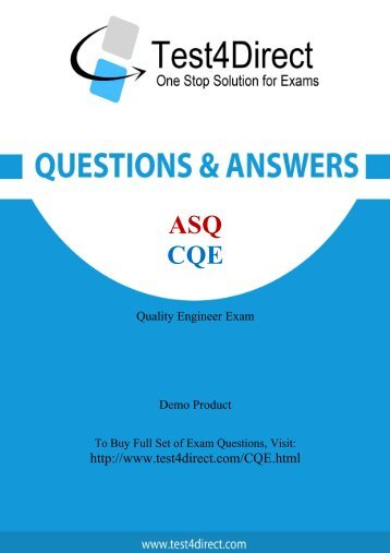 Real CQE Exam BrainDumps for Free