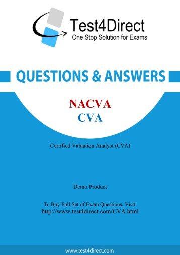 CVA Real Exam BrainDumps Updated 2016