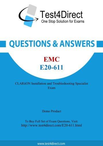E20-611 Real Exam BrainDumps Updated 2016