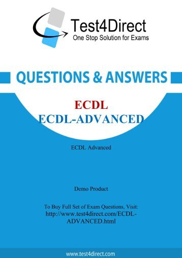 Up-to-Date ECDL-ADVANCED Exam BrainDumps for Guaranteed Success