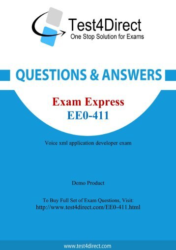 EE0-411 Actual Exam BrainDumps