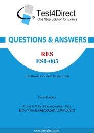 Up-to-Date ES0-003 Exam BrainDumps