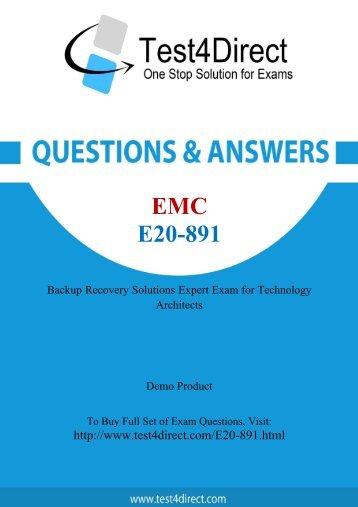 Download E20-891 BrainDumps to Success in career