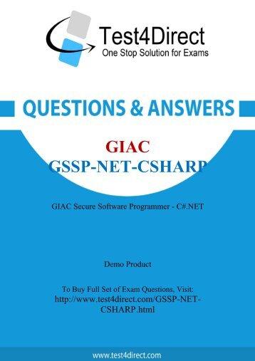 GSSP-NET-CSHARP Latest Exam BrainDumps