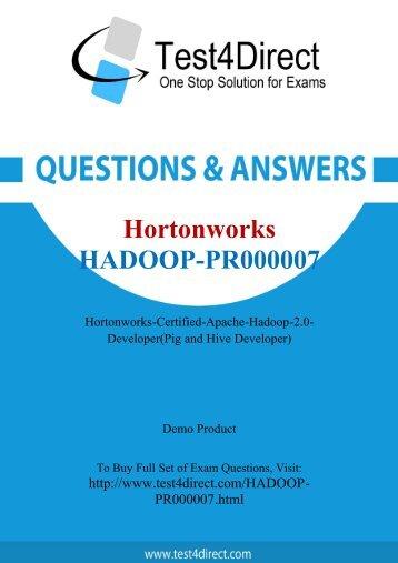 Hadoop-PR000007 Real Exam BrainDumps Updated 2016