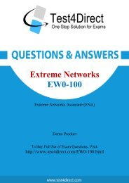 EW0-100 Exam BrainDumps are Out - Download and Prepare