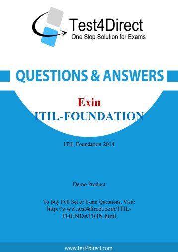 Up-to-Date ITIL-Foundation Exam BrainDumps for Guaranteed Success