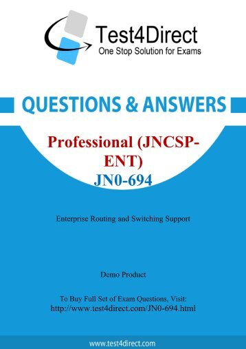 Pass JN0-694 Exam Easily with BrainDumps
