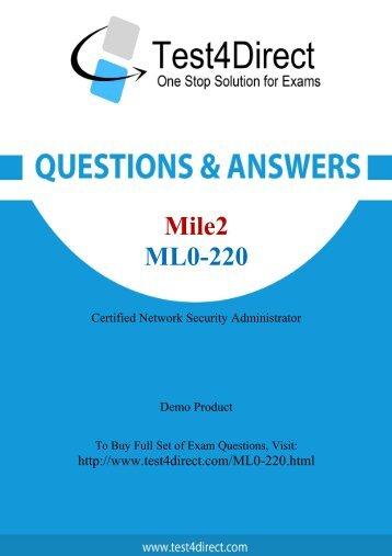 Pass ML0-220 Exam Easily with BrainDumps