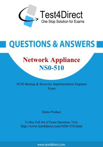 Download NS0-510 BrainDumps to Success in career