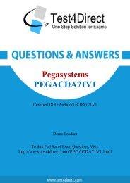 Up-to-Date PEGACDA71V1 Exam BrainDumps