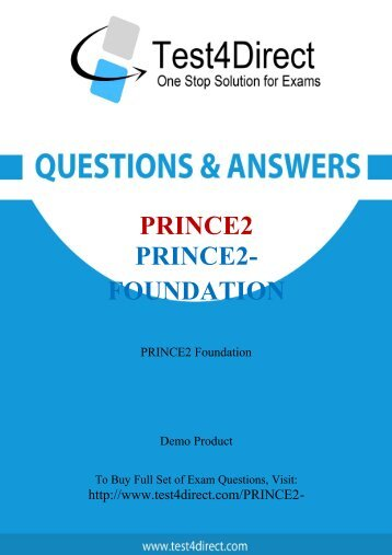 PRINCE2-Foundation Real Exam BrainDumps Updated 2016