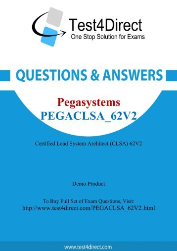 Buy PEGACLSA_62V2 BrainDumps and Get Discount