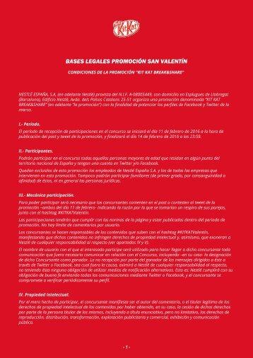 BASES LEGALES PROMOCIÓN SAN VALENTÍN