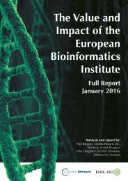 The Value and Impact of the European Bioinformatics Institute