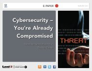 Cybersecurity – You're Already Compromised