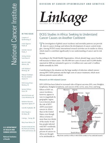 Linkage - DCEG - Home - National Cancer Institute