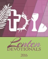 1 2016 Lenten Devotions