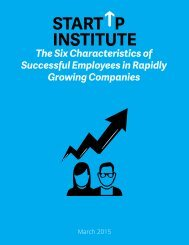 The Six Characteristics of Successful Employees in Rapidly Growing Companies