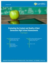 Evaluating the Content and Quality of Next Generation High School Assessments