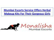 Mumbai Escorts Service Offers Herbal Makeup Kits For Their Gorgeous Girls