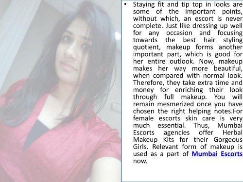 Mumbai Escorts Service Offers Herbal Makeup Kits For Their Gorgeous Girls