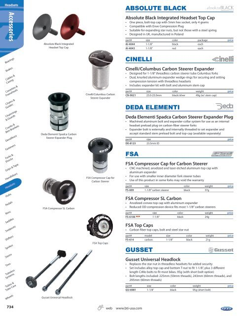 """1-1//8/"""" carbon steerers Cinelli Expander kit 23.0-25.0mm"""