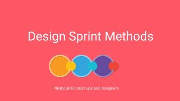 Design Sprint Methods
