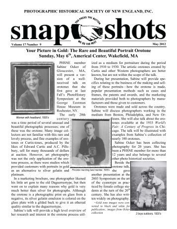 Your Picture in Gold - Photographic Historical Society of New England
