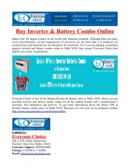 Buy Inverter and Battery Combo Online