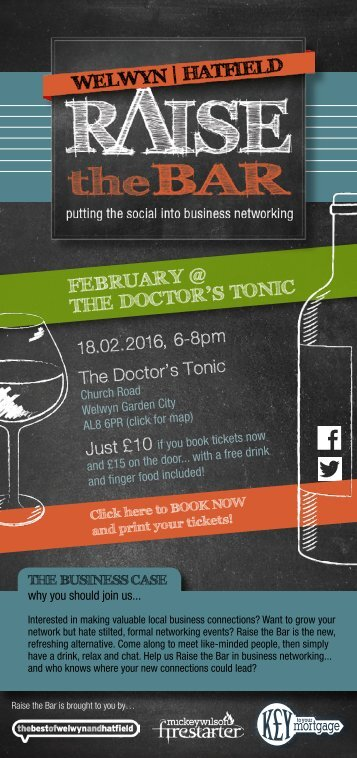 Raise the Bar - February at the Doctor's Tonic