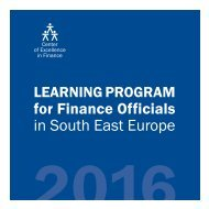 LEARNING PROGRAM for Finance Officials in SEE 2016