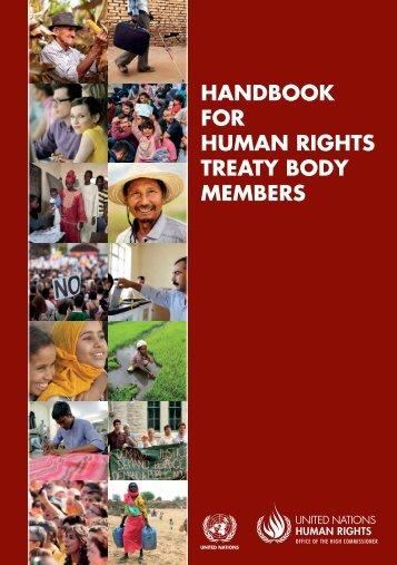 HANDBOOK FOR HUMAN RIGHTS TREATY BODY MEMBERS