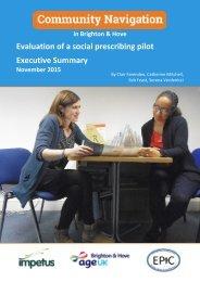 Evaluation of a social prescribing pilot Executive Summary