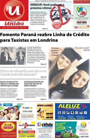 Jornal União - Edição da 1ª Quinzena de Fevereiro de 2016