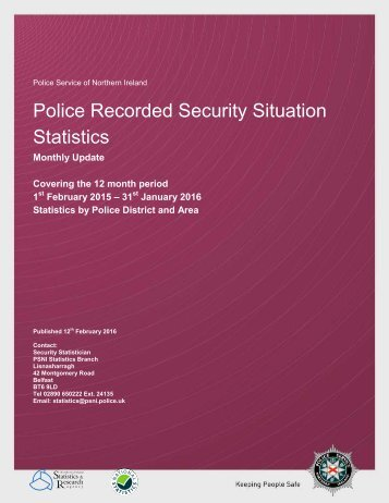 Police Recorded Security Situation Statistics
