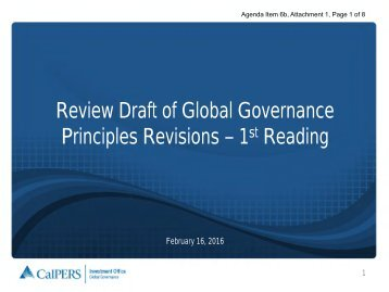Review Draft of Global Governance Principles Revisions – 1 Reading